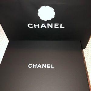 CHANEL Bags - 100% Auth Chanel Boy Bag Blue Caviar Leather
